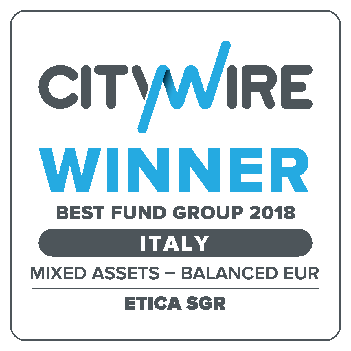Citywire Italy Awards: Etica Sgr wins the Mixed Assets